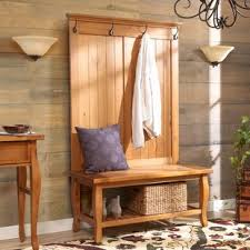Hall Tree Coat Rack With Bench Hall Trees You'll Love Wayfair 99