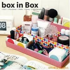 2018 Home Dresser Desktop Organizer Colorful Diy Stiff Paper Folding  Cosmetic Storage Boxes Finishing For Make Up Tools From Awedj156, $15.72 |  Dhgate.Com