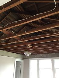replacing the sagging lath and plaster