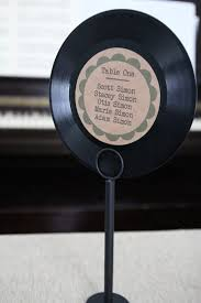 Vinyl Record Table Seating Chart By Laflammerouge On Etsy