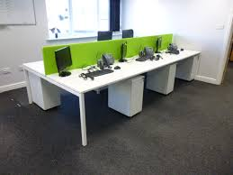 lime green office furniture. White Bench With Metal Slim Line Pedestals 013 Lime Green Office Furniture G