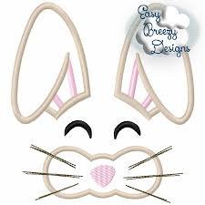Bunny Face Embroidery Design Bunny Face Boy Applique Embroidery Design Machine