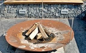 gabion simple firepit gabion firepit seat idea