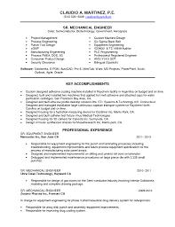 Sample Mechanical Design Engineer Resume Resume For Your Job