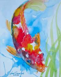 nishiki goi koi carp painting koi fish 1 koi and goldfish watercolor