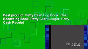 Petty Cash Log Book Best Product Petty Cash Log Book Cash Recording Book Petty Cash