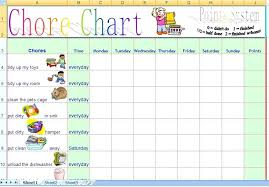 Chore List For Families Family Daily Chore Chart Template Free Chores Weekly Monthly