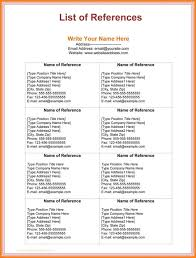 Professional References List Template Professional References Template Template Business 22