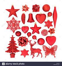 Rot Christbaumschmuck Christbaumkugeln Ornamente Und
