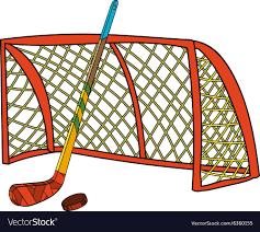 Set of <b>hockey stick</b> puck and <b>gate</b> Royalty Free Vector Image