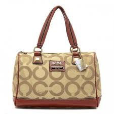 Coach Legacy Logo In Monogram Large Khaki Luggage Bags BQT