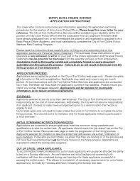 Entry Level Police Resume Cover Letter Lv Crelegant Com