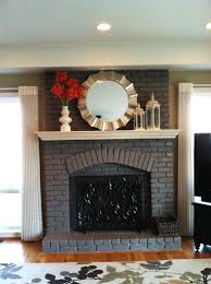 Light Grey Painted Brick Fireplace Painted Fireplace Not White It Looks Good Brick