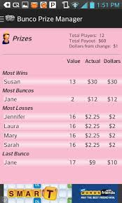 Bunco Payout Chart 10 Amazon Com Bunco Prize Manager Appstore For Android