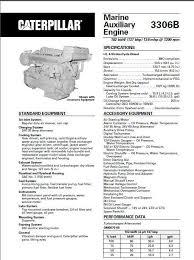 CAT 3304 and 3306 workshop manual, spec sheet