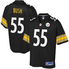 Pro - Player Pittsburgh Team Line Black Steelers Youth Devin Nfl Bush Jersey