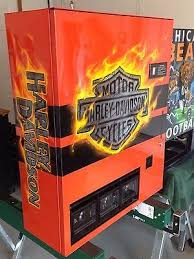 Harley Davidson Vending Machine Amazing Harley Davidson Vending Machine Hand Painted Bar Shield Coke Pepsi