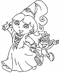 dora coloring pages new simple dora princess coloring pages with and page bertmilne