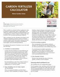 Wsu Extension Publications Home Garden And Lawn Fertilizer