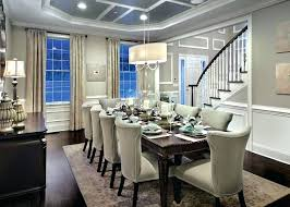 dining room chandeliers with shades two tone dining room gray and white with linen shade chandelier