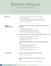 Resume Format 2017 Gallery of remarkable resume examples skills resume examples 100 98