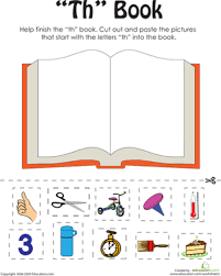 These free worksheets are printable and designed to accommodate any lesson plan for reading that includes phonics. Th Words A Word Family Book Worksheet Education Com