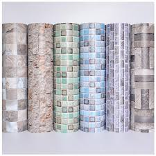 modern self adhesive waterproof wallpaper for bathroom kitchen decorative stone mosaic 3d l sticker contact paper waterproof wallpaper wallpaper for