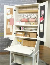 image of gift wrapping station using secretary desk from ikea