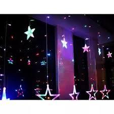 Đèn rèm nháy sao trang trí đèn led trang trí hình ngôi sao đèn nháy mành trang  trí hình ngôi saoDây đèn chớp rèm mành ngôi sao 138 LED dây đèn LED
