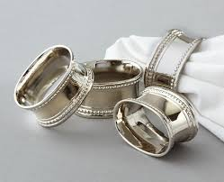 Napkin Rings - Oval Stainless Steel