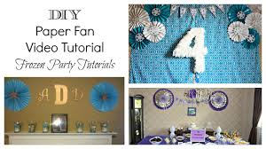 diy paper fan tutorial
