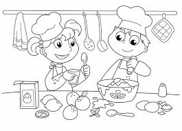 Small Picture Extraordinary Design Cooking Coloring Page Bakery Kids Baking Cake