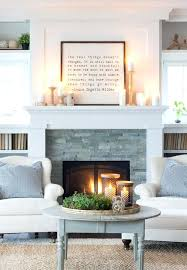 stacked stone fireplace with white mantel stacked stone tile living room contemporary with long white fireplace stacked stone fireplace with white
