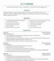 Create My Resume Rig Electrician Resume Sample Electrician Resumes