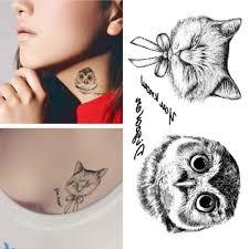 сова тату одноразовые 3d водонепроницаемый корпус Art Chic Cat временные татуировки