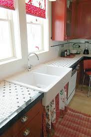 white tile kitchen countertops. White Tile Countertops Kitchen