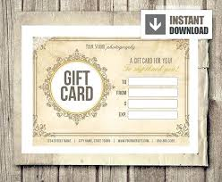 Gift Certificate Template Photography Mini Session Card Marketing