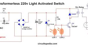 Ldr Circuit Diagram For Street Light Automatic Night Light Circuit Diagram With Ldr Without