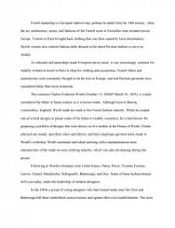 french fashion essays zoom zoom