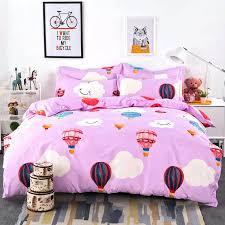 Cartoon Cloud Hot Air Balloon Rabbit 3d Bedding Set Single Twin ... & Cartoon Cloud Hot Air Balloon Rabbit 3d Bedding Set Single Twin Full Queen  Size Cotton Hot Adamdwight.com