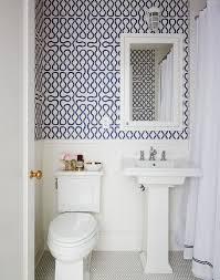 Image Design Fun Patterned Wallpaper Homedit 10 Tips For Rocking Bathroom Wallpaper