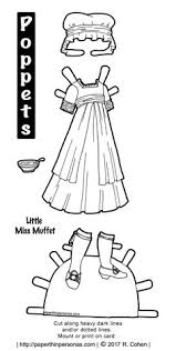 an late 18th century inspired little miss et costume to color and play with for the