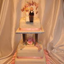 Pink Roses Butterfly Wedding Cake Celticcakescom