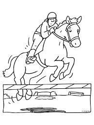 Kleurplaat Paardrijden Ruiter Kleurplatennl
