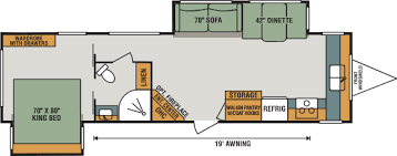 travel trailer floor plans. 2018 K-Z RV Spree 333BHK Travel Trailer Floorplan Floor Plans