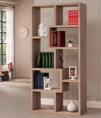 ... Bookshelf, Astonishing Geometric Bookcase Metal And Glass Bookcase Tall  Brown Geometric Bookcase With Books Cage ...