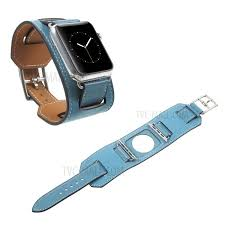 genuine leather replacement watch band with adapter for apple watch 38mm series 3 series 1 series