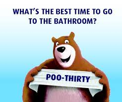 bathroom puns. Perfect Puns How Do You Know Itu0027s Time To Go The Bathroom The Clock Says In Bathroom Puns A