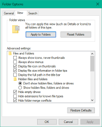 How to set a default Folder View for all folders in Windows 10/8/7