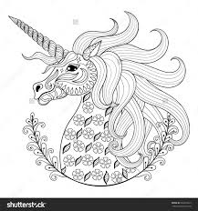 Astounding Inspiration Unicorn Adult Coloring Pages Animal Patterns